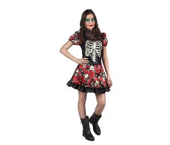 Dia de los Muertos dress 'Niña Catrina' (age 14-16)
