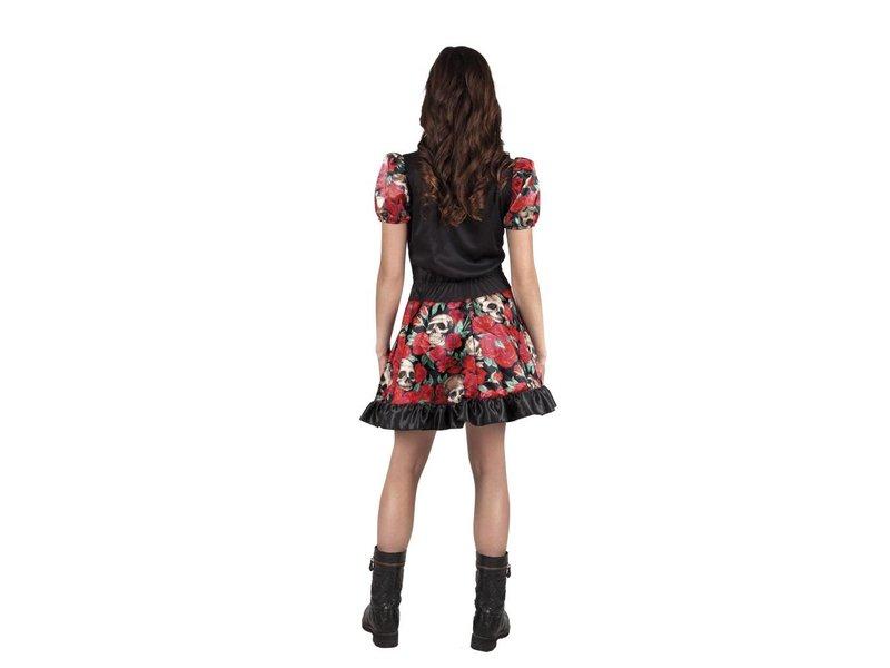 Tienerkostuum Niña Catrina (14-16 jaar) Dia de los Muertos / Halloween jurk