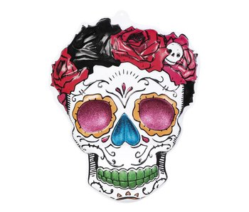 Wanddecoratie 'Mrs Day of the dead'