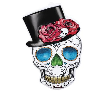 Wanddecoratie 'Mr Day of the dead' (66x44 cm)