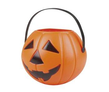 Halloween Pumpkin bucket orange 14x16cm