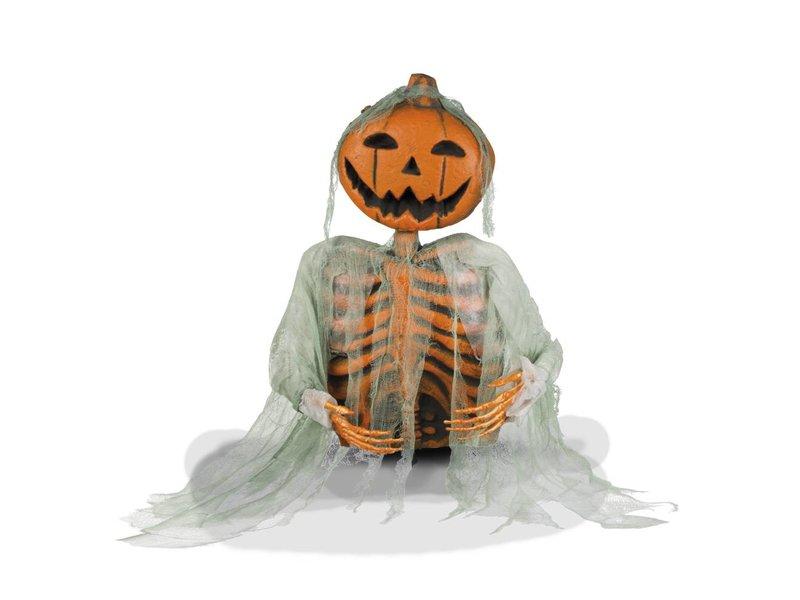 Decoratie Mr Pumpkin op stok (52 cm)