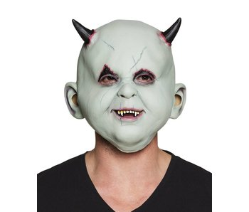 Latex head mask Devil child