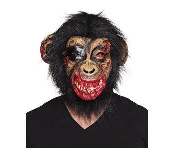 Latex hoofdmasker Bloederige aap met haar