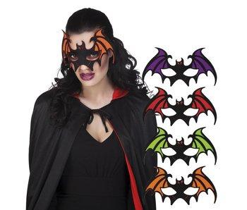 Vilten oogmasker Vleermuis 4 kleuren ass.