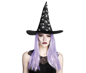 Witch Hat 'Aranya' with purple hair