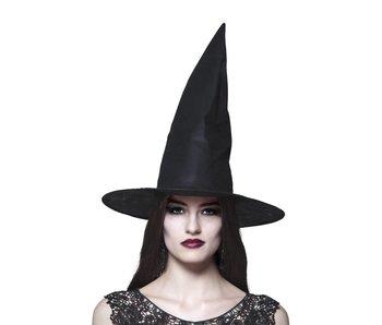 Heks hoed 'Ursula' zwart