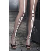 Pantyhose / stockings Bones (voor Halloween, horror en Dia de los Muertos)