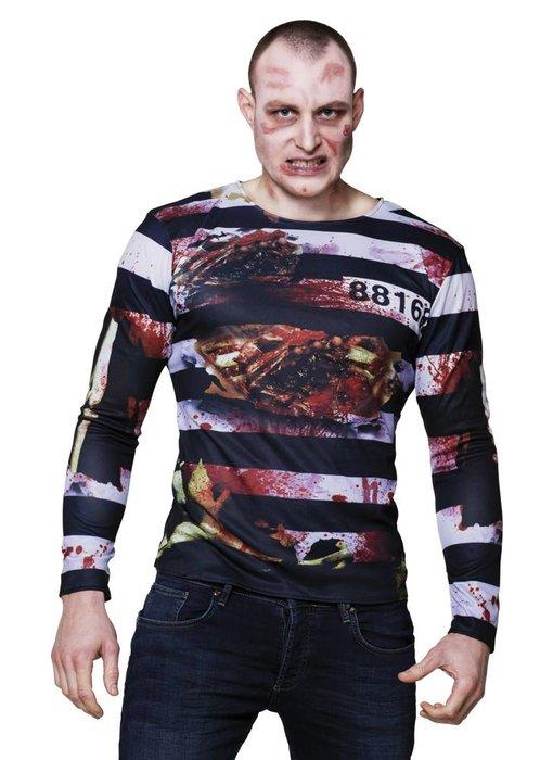 Fotorealistisch shirt 'Zombie prisoner'