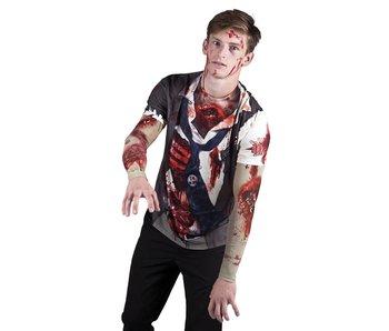 Fotorealistisch shirt Zombie (L)