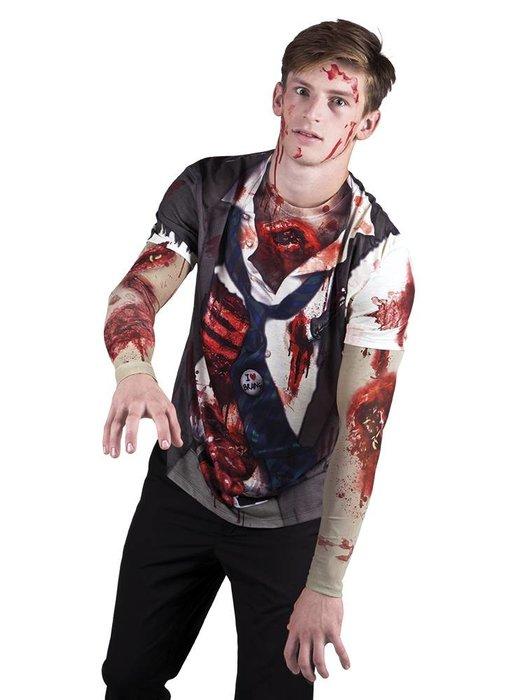 Fotorealistisch shirt 'Zombie'