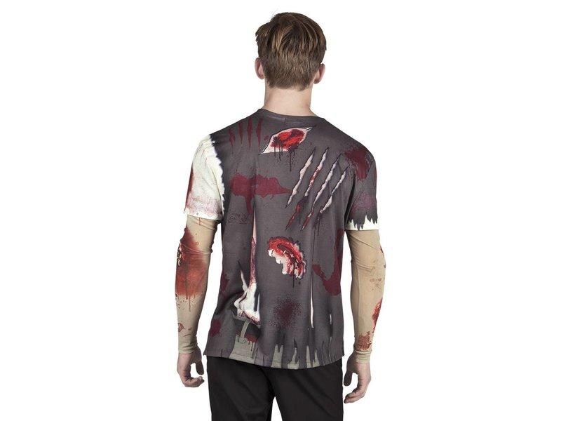 Fotorealistisch shirt 'Zombie' (L)