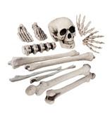 Plastic Doodshoofd en beenderen (12 stuks) Halloween / Horror decoratie
