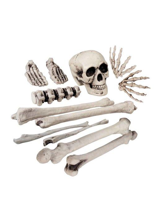 12 stuks Doodshoofd en beenderen