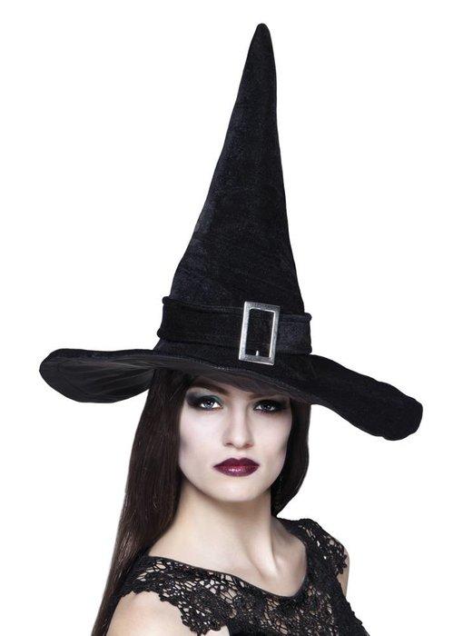 Heks hoed 'Kendra' zwart