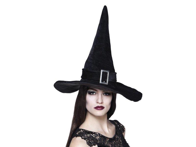 Heks hoed 'Kendra' zwart (maat: 57>61)