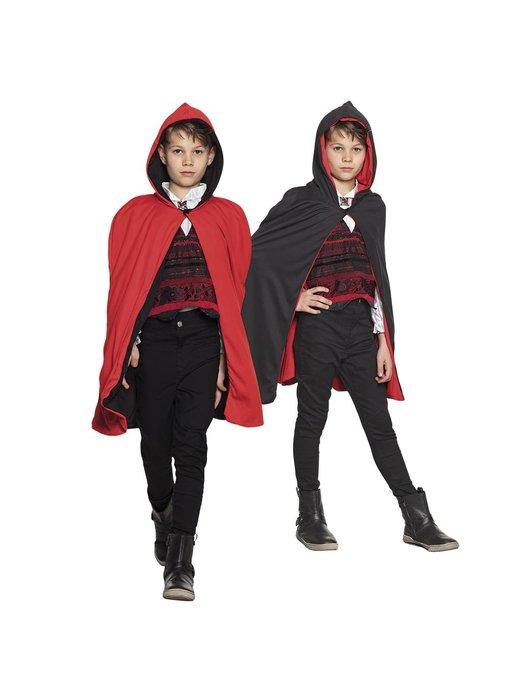 Cape Twilight kind zwart/rood omkeerbaar (115 cm)