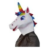 Eenhoorn masker 'regenboog'