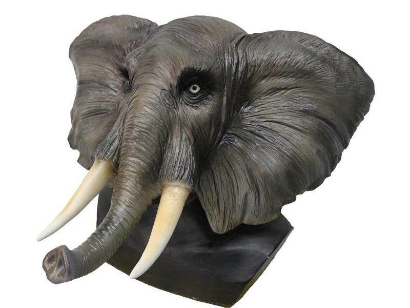 Olifantenmasker met slagtanden - Deluxe