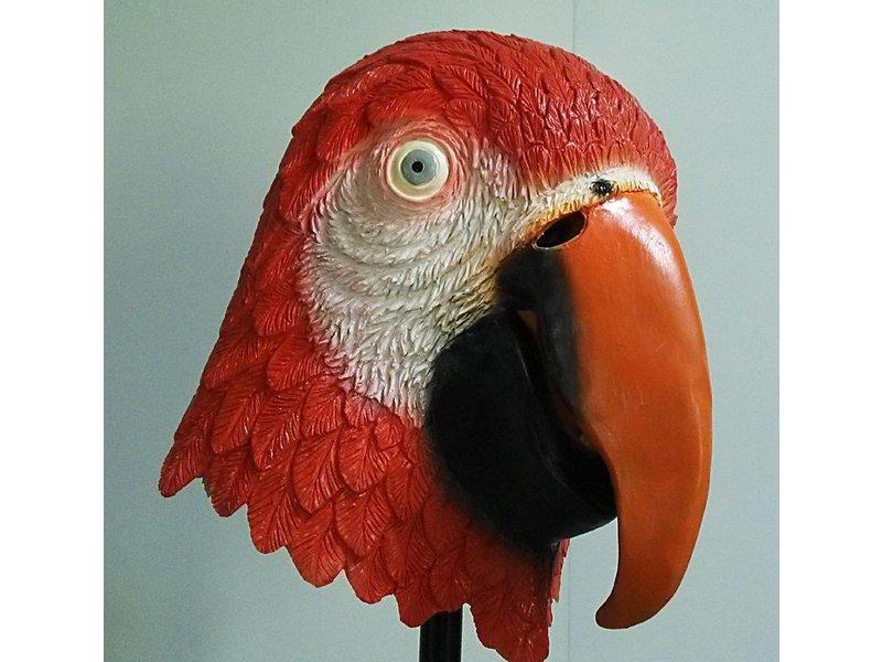 vogelmasker - Rode Ara papegaai