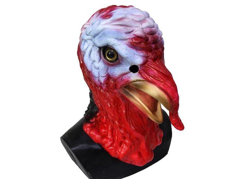 Kalkoenmasker (rood-wit)