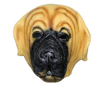 Dog mask 'bulldog' (brown)