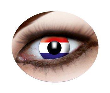 Dutch Flag contact lenses