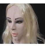 Vrouwenmasker (blond haar)