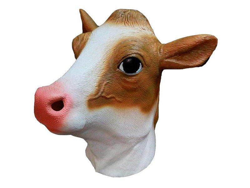 Koe masker latex  (bruin)