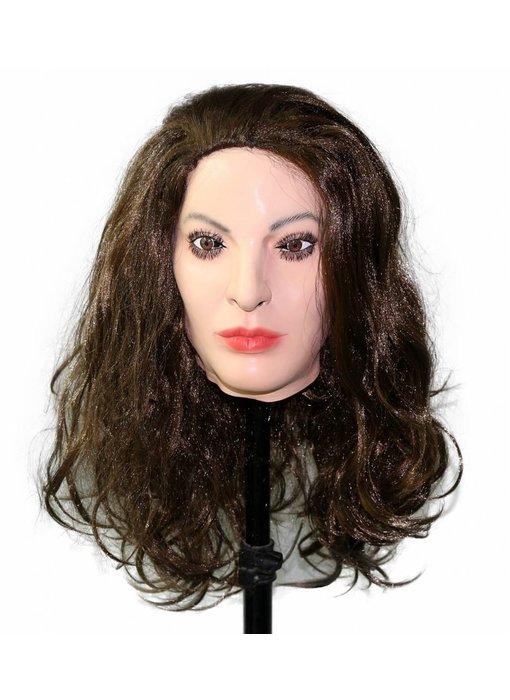 Female mask (brown hair)