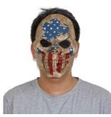 Jason hockey masker 'amerikaanse vlag'