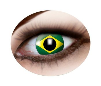 Brazil flag contact lenses