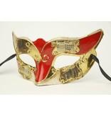 Venetiaans masker 'Columbina Musica' (rood)