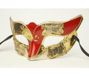 Venetian mask 'Musica' (red)