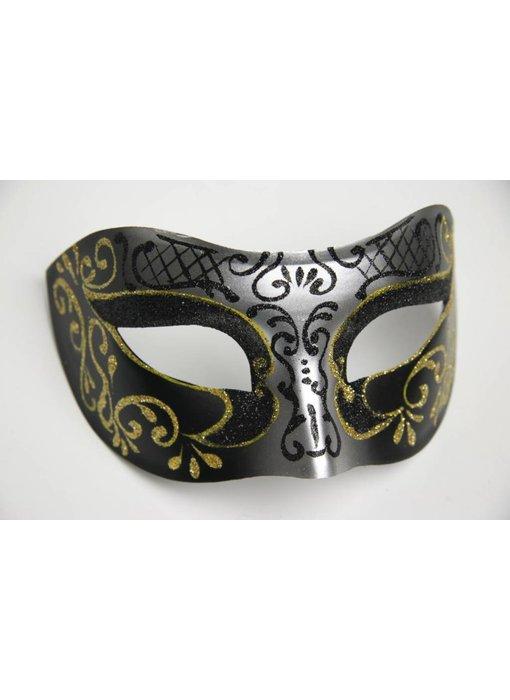 Venetiaans masker 'Princessa' (goud/zilver)