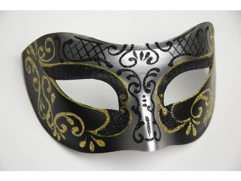 Venetiaans Masker Columbina Princessa Goud Zilver Mistermask Nl