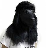 Hondenmasker Deluxe 'Zwarte Poedel'