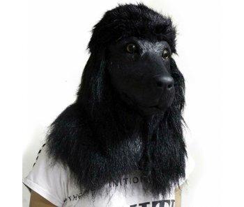 Dog mask Deluxe 'Black Poodle'