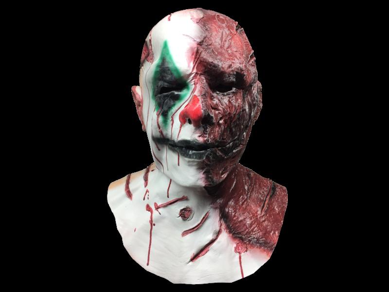 Horror Clown masker 'Burny'