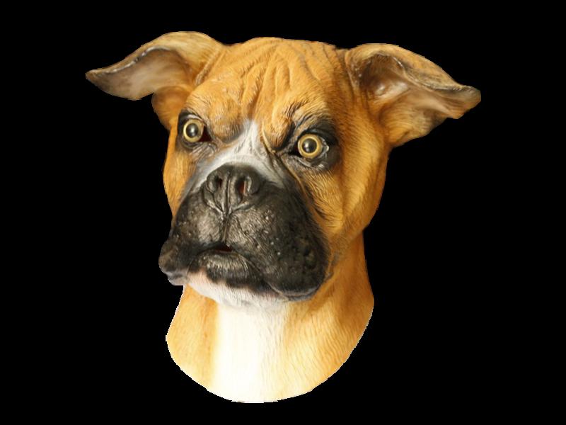 Latex dog mask 'Boxer'