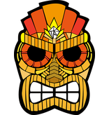 LED masker 'Tiki'