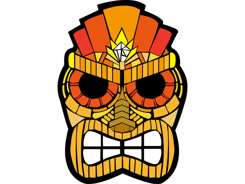 LED masker 'Tiki' (lichtgevend / glow in the dark)