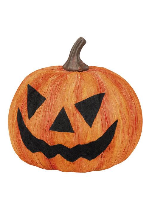 Halloween pompoen (Decoratie,18 cm)