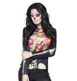 Fotorealistisch shirt Calaca (M/L) Dia de los Muertos
