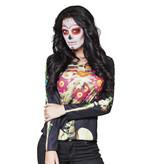 Photorealistic shirt Calaca (size: M/L) Dia de los Muertos