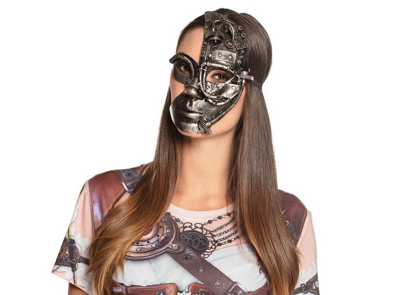Steampunk masker Half face (man/vrouw)