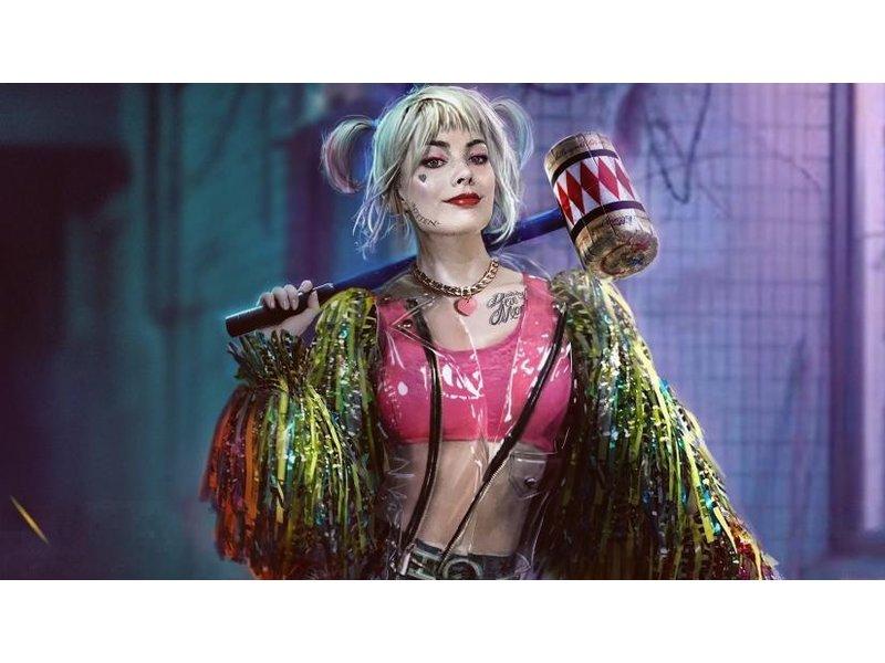 Harley Quinn outfit (broekje , topje, glitterjasje)  | Birds of Prey (2020)