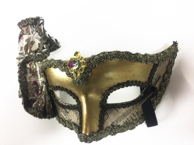 Venetian Columbina mask 'Teatrale'