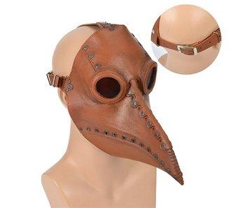 Pestdokter masker (bruin)