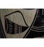 Donkerbruin Tiki masker (46 cm)